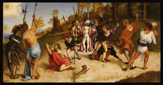 Stoning of Saint Stephen by Lorenzo Lotto